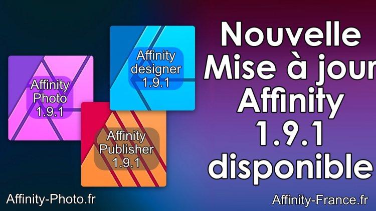 Mise à jour Affinity, version 1.9.1