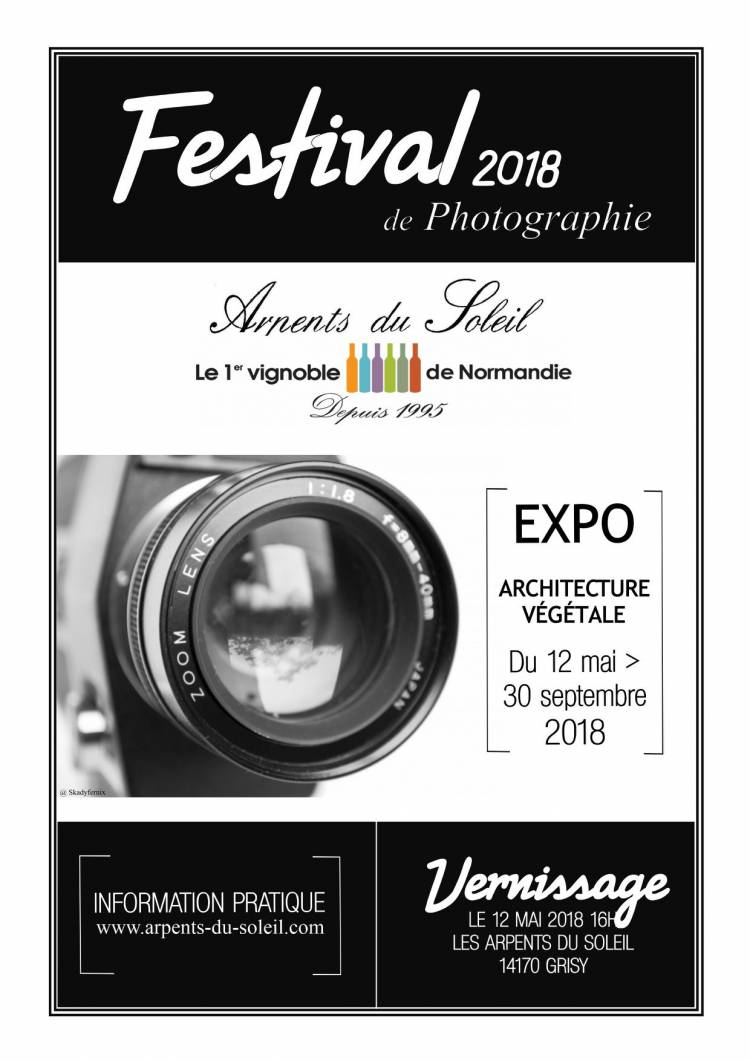 """FESTIVAL DE PHOTOGRAPHIE 2018 des """"Arpents du Soleil"""""""