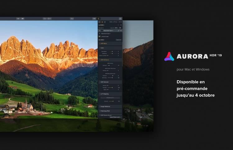 Aurora HDR 2019 en précommande
