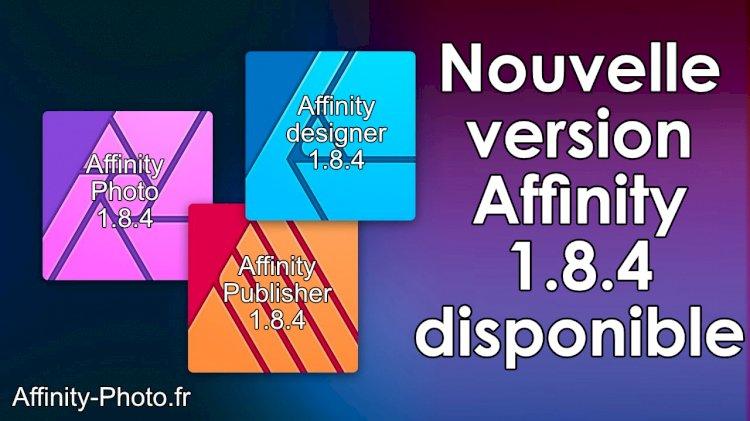 Nouvelle version Affinity Photo 1.8.4