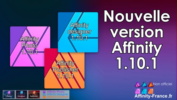 MMise à jour Affinity, version 1.10.1