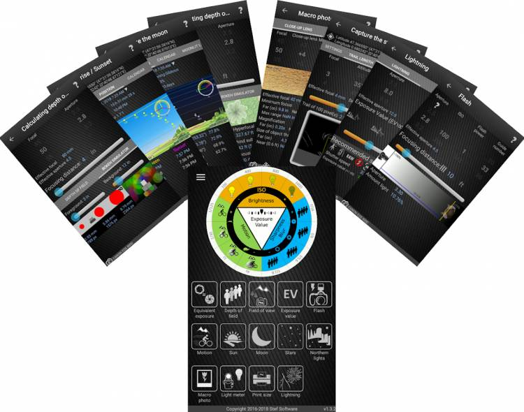 Application Photographer's companion pour Smartphone